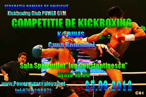 Competiție Kickboxing – Craiova 23 septembrie 2012